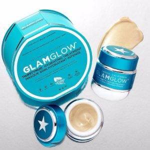 送价值$59的正装橙罐面膜Glamglow蓝罐保湿补水面膜热卖 换季补水必备
