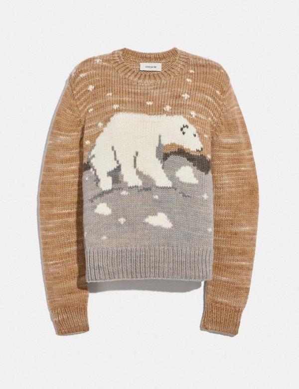 北极熊毛衣