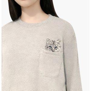满$300减$150口袋猫咪卫衣