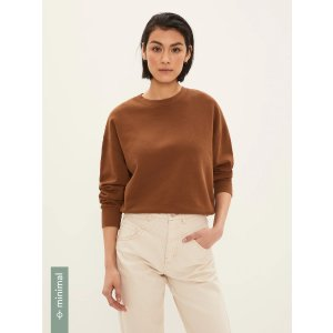 Frank And OakDrop Shoulder Sweatershirt in Brown