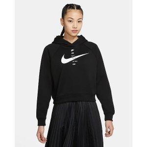 Nike女士黑色卫衣 4Logo