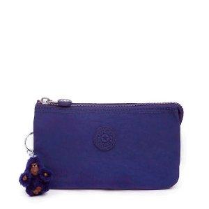 KiplingPrice After 20% Off $125+Large Pouch - Cobalt Dream Tonal Zipper
