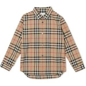 全场9折 £126收爆款格纹衬衫Burberry 10-14Y大童款大促 成人半价收风衣、衬衫