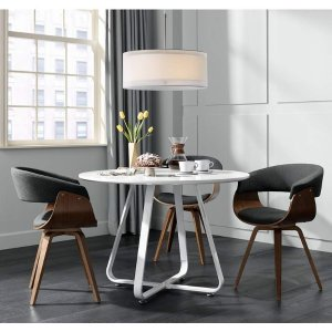 Summer Charcoal Fabric and Walnut Wood Dining Chair - #31H11 | Lamps Plus