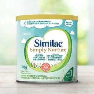 $22.64(原价$36.98)Similac 雅培 Simply Nurture 非转基因婴儿配方奶粉1段700g