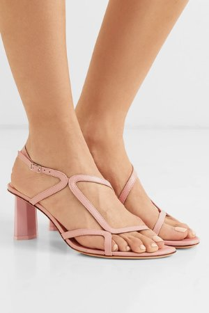 BY FAR | Brigette leather sandals | NET-A-PORTER.COM
