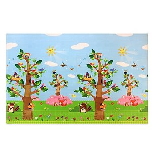 BABY CARE™ Large Baby Play Mat in Birds in Trees - buybuy BABY