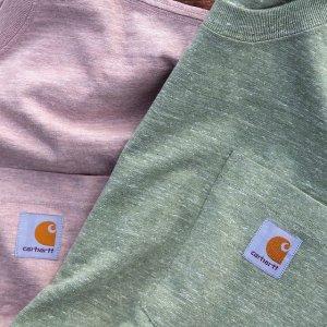 7.5折 $12.74收Carhartt 精选口袋T恤促销 多色可选