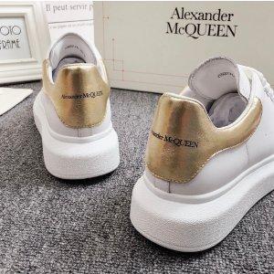 Alexander McQueen35/36/37/38码!小白鞋金尾