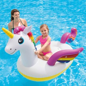 折后仅€13.57 大人小孩都能用Intex Rideon 独角兽充气船 居家、度假、泳池必备