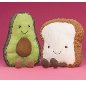 8.5折+包邮 寿司、水果都有货即将截止:Jellycat毛绒玩偶促销 邦尼兔新色系列热卖