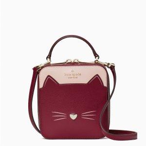 低至2.5折 拼色挎包史低$99上新:kate spade 惊喜特卖会 猫咪系列加入 收封面盒子包