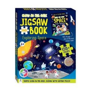 可发夜光的拼图书,150+片 太空探索图案