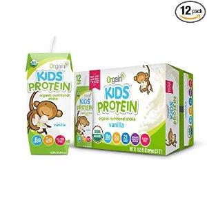 立减$5 $12.28起包邮Orgain 儿童有机营养奶昔,2种口味,8.25盎司 12盒