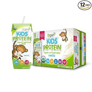 Extra $5 OffOrgain Kids Protein Organic Nutritional Shake, Gluten Free, Kosher, Non-GMO, 8.25 Ounce, Pack of 12 @ Amazon