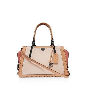 CoachDreamer Medium Whipstitch & Color-Block Leather Shoulder Bag