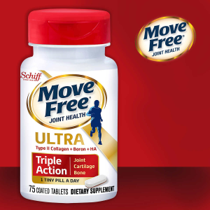 $18.99 (原价$24.99)Move Free 骨胶原维骨力 75粒 1天1粒強效款