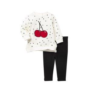 Little MeCherry Sweatshirt Set (Baby Girls)