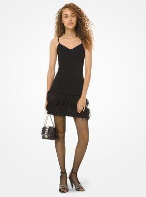 羽毛吊带裙