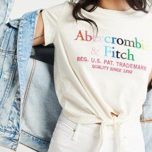 低至5折+额外8.5折 美衣$7.65起最后一天:Abercrombie & Fitch 精选男女美衣春季大促
