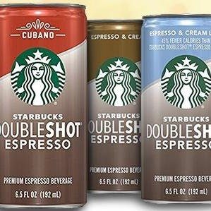 $12.11 Starbucks Doubleshot, Espresso + Cream, 6.5 Ounce, 12 Pack