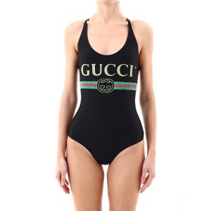 GucciLogo Printed Swimsuit