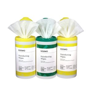 补货:亚马逊Solimo 消毒湿巾75片X3罐共225片,包邮