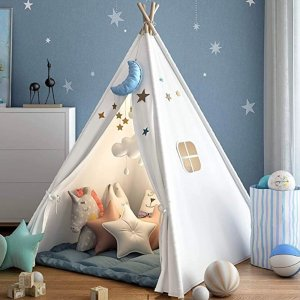 6折$29.97收 好价回归史低价:Wilwolfer 高颜值儿童木质帐篷,给娃一个奇妙的小世界