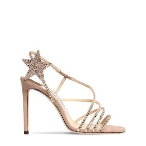 Jimmy Choo100MM CRYSTALS SUEDE SANDALS