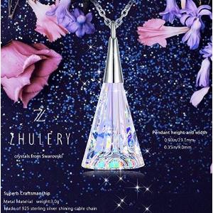 """闪购$17.87(原价$119.79)ZHULERY""""水晶花瓶""""施华洛世奇水晶吊坠925纯银项链"""