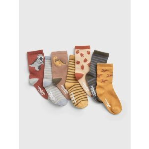 GapExtra 10% Off With Code BESTToddler Dino Socks (7-Pack)