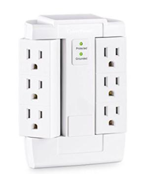 $15.12(原价$23)CyberPower CSB600WS 6端口插线板