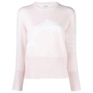 Thom Browne粉色海豚毛衣