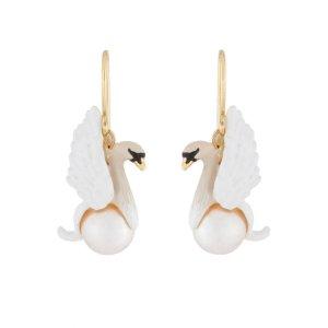 Les Nereides白天鹅珍珠耳饰