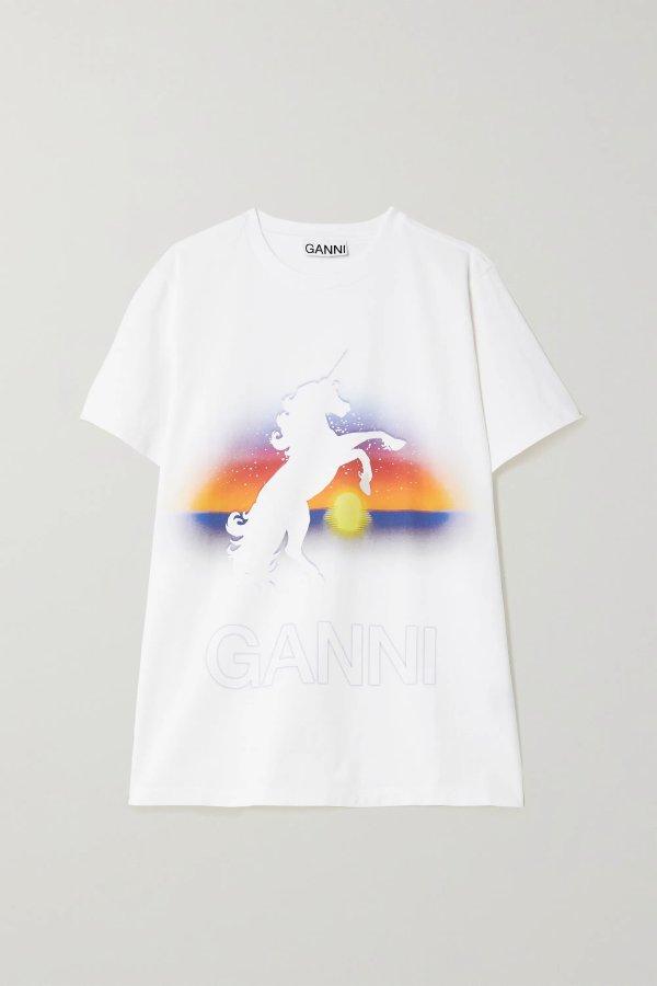 Printed organic T恤