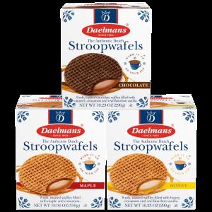 Daelmans 大块华夫饼干 8盒 巧克力、蜂蜜、枫糖3种可选