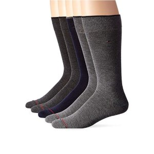 $16.99Tommy Hilfiger  Men's 5 Pair Flat Knit Rayon Blend@Amazon.com