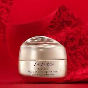 无门槛8.5折Shiseido 美妆护肤热卖 收红腰子套装、盼丽风姿眼霜