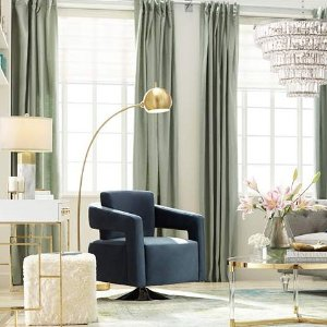 Capra Antique Brass Finish Chairside Arc Floor Lamp - #33D06 | Lamps Plus