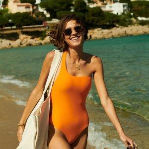4折起!超显白宝蓝泳衣£112Harvey Nichols 夏日沙滩专场 收Off-White、可爱拼色泳衣