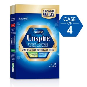 Enfamil Enspire Infant Formula - Our Closest to Breast Milk, Powder, 30 oz Refill *4 Boxes Bundle
