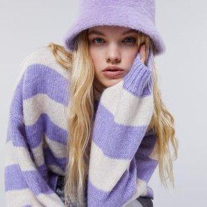 低至3.3折 封面同款毛衣€18Bershka 春季大促 BM风打底上衣€11 仿皮草外套€21