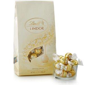 Lindt买2只需$40 松露白巧克力礼包75颗装