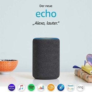 The new Amazon Echo 第三代智能音箱 黑五6.5折特价
