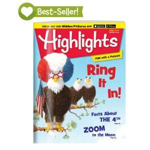 $5 前所未有超好折扣Highlights 儿童杂志半年6本 陪伴几代美国孩子成长
