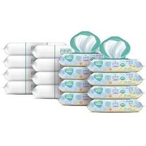 Pampers Baby Wipes, Pampers Baby Diaper Wipes, Complete Clean Scented, 8X Pop-Top Packs and 8 Refill Packs for Dispenser Tub, 1152 Total Wipes