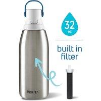 Brita 32oz大容量不锈钢保温过滤吸管水壶 带滤芯