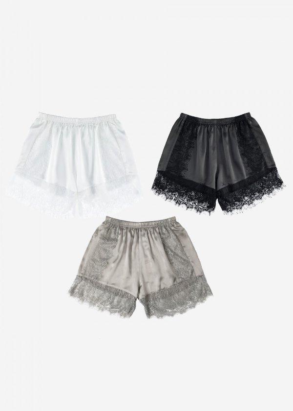蕾丝真丝短裤3条