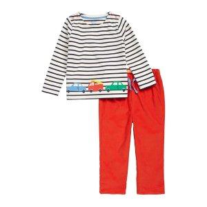 Mini BodenTransport Applique Shirt & Pants Set