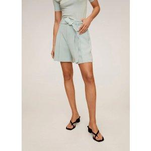MangoBelt crepe shorts - Women | OUTLET USA